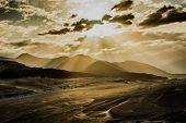 picture of karakoram  - Sunrise over mountain peak Northern area of Pakistan - JPG