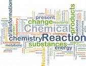 picture of reaction  - Background concept wordcloud illustration of chemical reaction - JPG