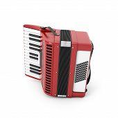 foto of accordion  - Retro accordion isolated on white background - JPG