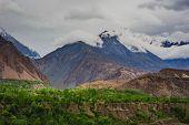 stock photo of karakoram  - Idyllic of Mountain and Valley in Northern area of Pakistan - JPG
