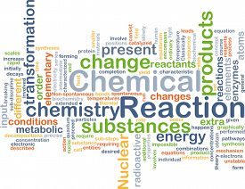 picture of chemical reaction  - Background concept wordcloud illustration of chemical reaction - JPG