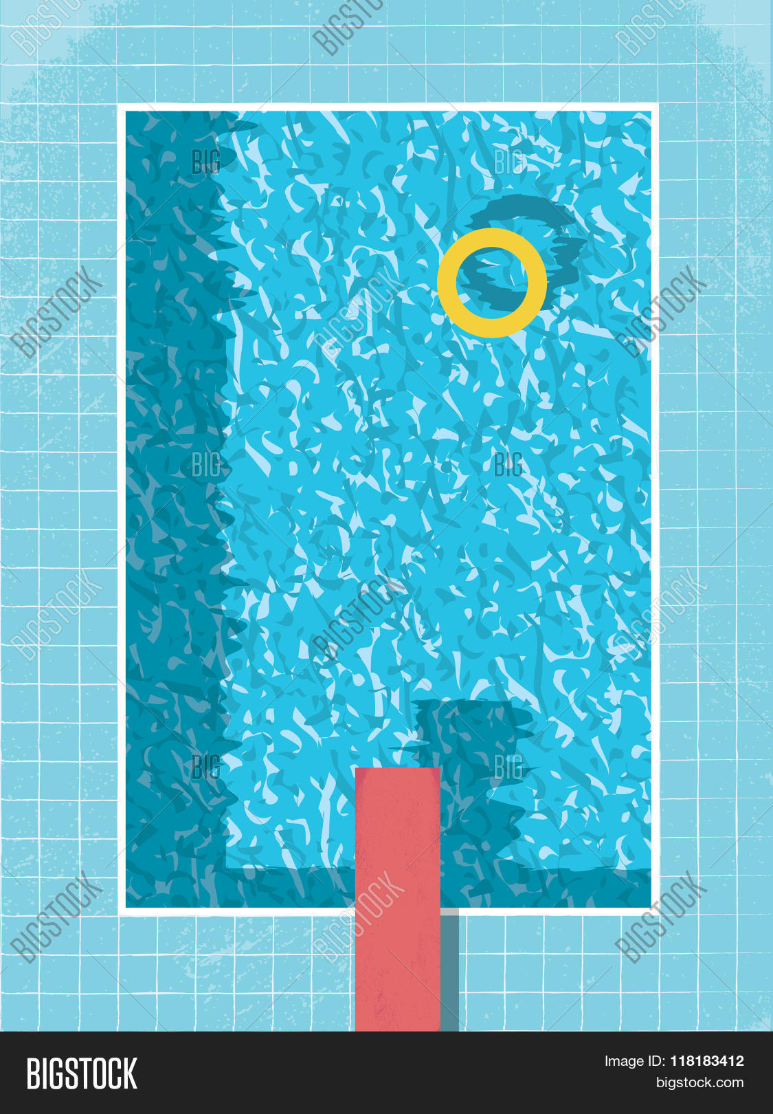 Swimming pool top view vector
