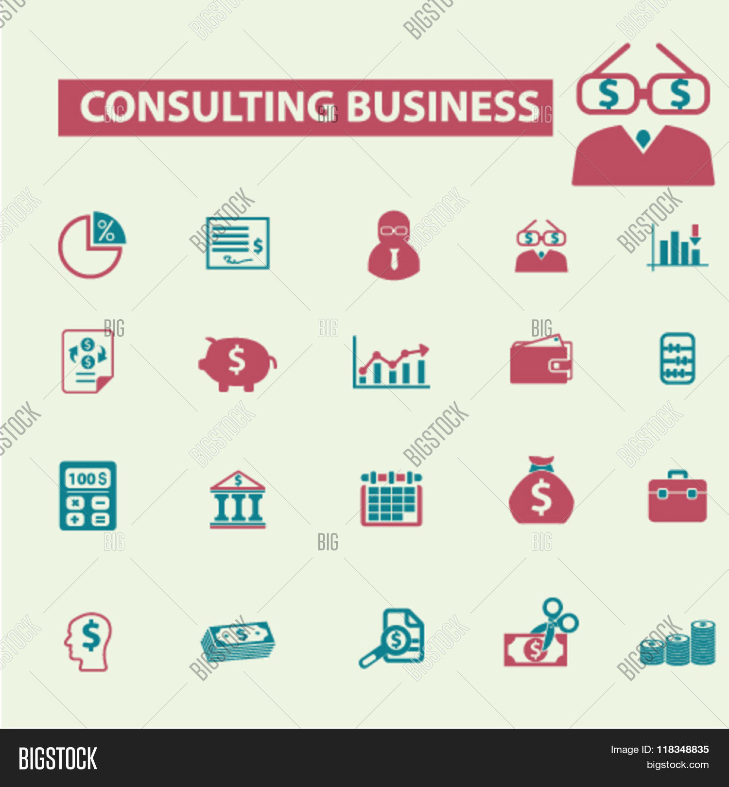 Business consulting icon images for Consulting company logo
