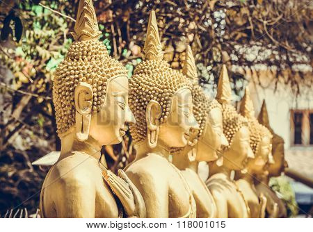 Soft and Selective Focus of Buddha Statue