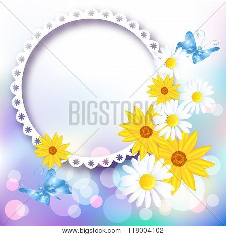 Flowers And Photo Frame