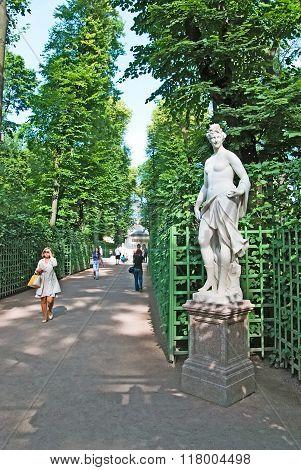 Saint-Petersburg. Russia. Thalia Statue
