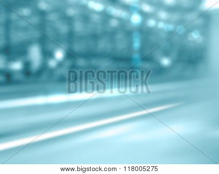 Abstract business background - blurred street and building - dynamic modern city concept - shopping center mall exterior - urban scene