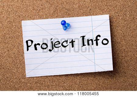 Project Info - Teared Note Paper  Pinned On Bulletin Board