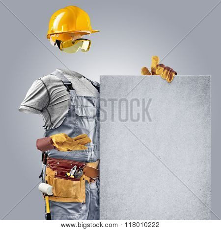 invisible builder shows information poster