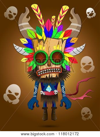 Shaman Vector Illustration
