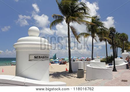 Sebastian Beach Entrance Fort Lauderdale
