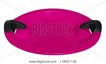 Toboggan Isolated On The White - Pink