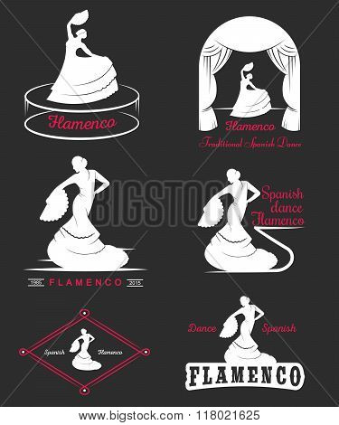 Set Logos And Badges Flamenco