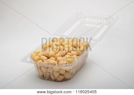 Chickpeas In A Plastic Box