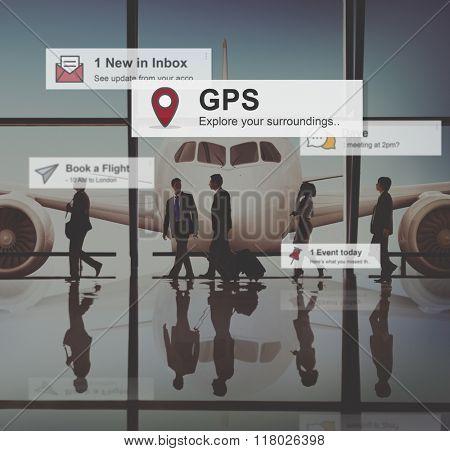 GPS Navigation Journey Location Concept