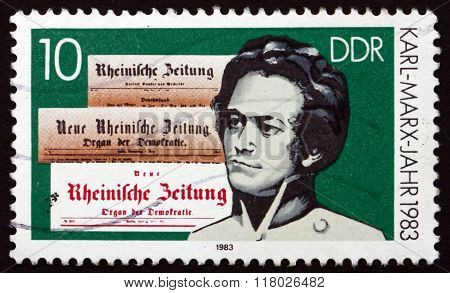 Postage Stamp Germany 1983 Karl Marx