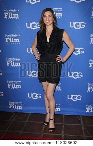 SANTA BARBARA - FEB 12:  Deena Adar at the 31st Santa Barbara International Film Festival - Cinema Vanguard Award on February 12, 2016 in Santa Barbara, California