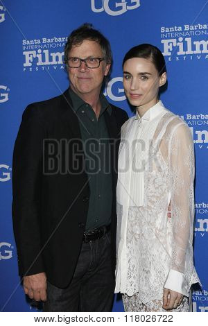 SANTA BARBARA - FEB 12:  Todd Haynes, Rooney Mara at the 31st Santa Barbara International Film Festival - Cinema Vanguard Award on February 12, 2016 in Santa Barbara, California