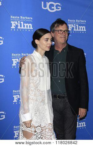 SANTA BARBARA - FEB 12:  Todd Haynes, Rooney Mara at the 31st Santa Barbara International Film Festival - Cinema Vanguard Award on February 12, 2016 in Santa Barbara, California