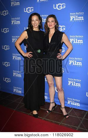 SANTA BARBARA - FEB 12:  Kai Collins, Deena Adar at the 31st Santa Barbara International Film Festival - Cinema Vanguard Award on February 12, 2016 in Santa Barbara, California