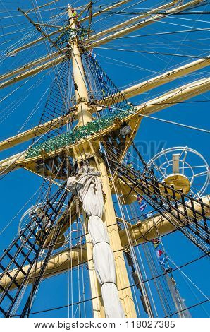 Mast  Of An Old Sailing Vessel