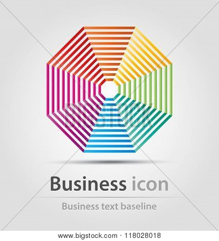 Octagonal Business Icon
