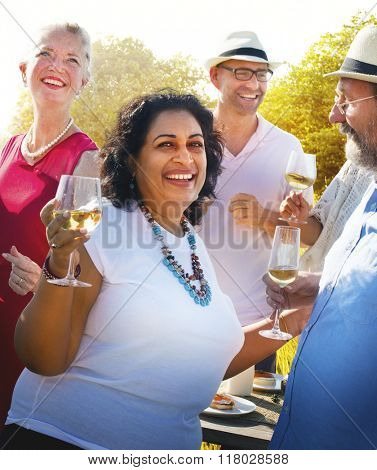 Diverse People Group Party Celebration Concept