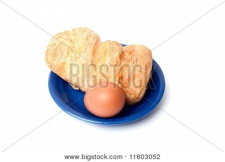 Bread Roll And Eggs