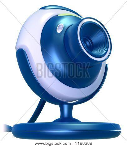 Web Cam azul
