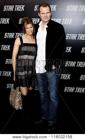Jack Coleman and Beth Toussaint at the Los Angeles Premiere of