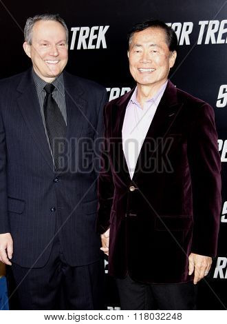 Brad Altman and George Takei  at the Los Angeles Premiere of