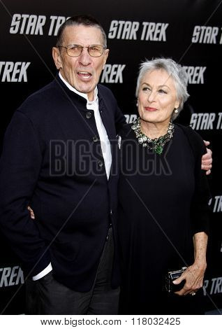 Leonard Nimoy and Susan Bay at the Los Angeles Premiere of