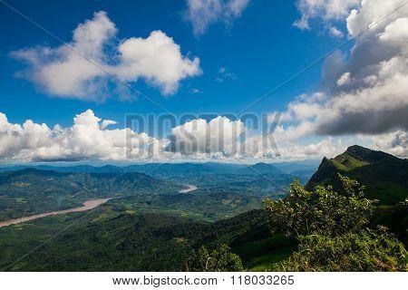 Blue sky on Phu chi fa in Chiangrai Thailand