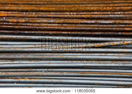 Reinforcing steel bars for building armature for background