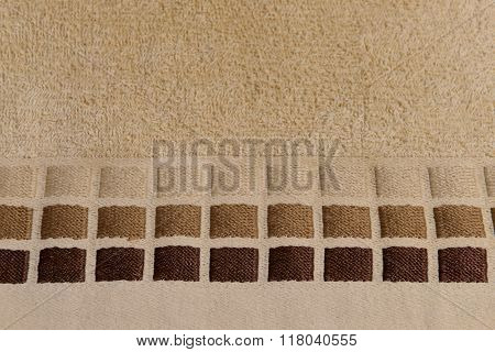 texture beige fabric closeup