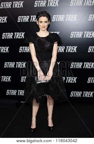 Winona Ryder at the Los Angeles Premiere of