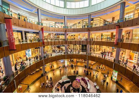 Dubai - AUGUST 7, 2014: Dubal Mall shopping mall on August 7 in