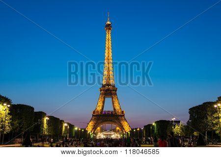 PARIS - JULY 12, 2013: Eiffel Tower on July 12, 2013 in Paris. E