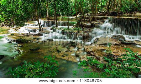 Sixth floor of Huay Mae Kamin Waterfall Khuean Srinagarindra National Park Kanchanaburi Thailand