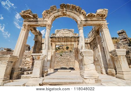 Wonderful Hadrian Temple. In the ancient city of Ephesus Turkey.