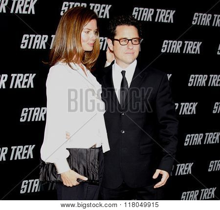 J.J. Abrams and Katie McGrath at the Los Angeles Premiere of