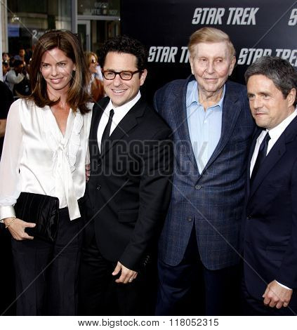 Sumner Redstone, Brad Grey, J.J. Abrams and Katie McGrath at the Los Angeles premiere of