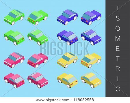 Isometric transport icon set.
