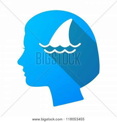 Long Shadow Female Head With A Shark Fin