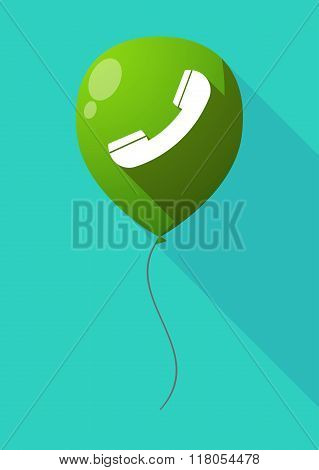 Long Shadow Balloon With A Phone