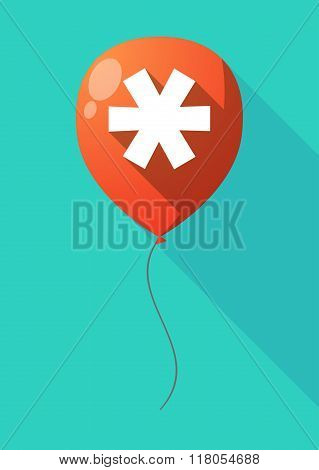 Long Shadow Balloon With An Asterisk