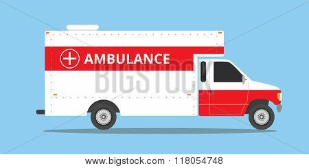 ambulance car vehicle emergency with fast come isolated