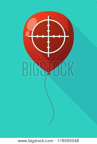 Long Shadow Balloon With A Crosshair