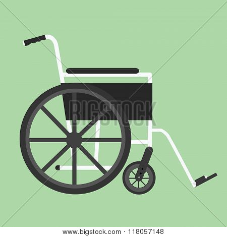 wheelchair isolated vector silhouette