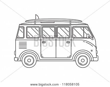 Travel Omnibus Thin Line Icon